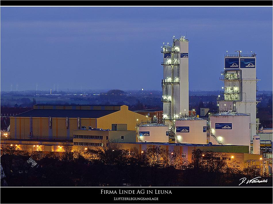 Linde AG Leuna Luftzerlegungsanlage