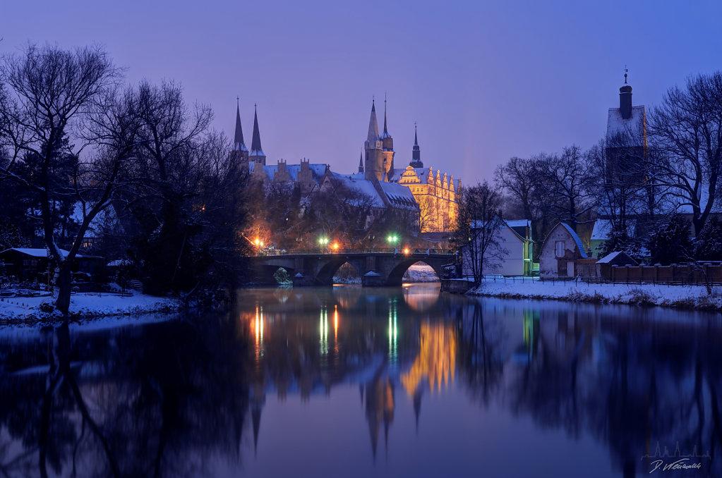 Schloss Merseburg im Winter